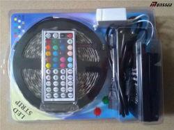 16.4футов SMD 5050 водонепроницаемый 300светодиоды RGB гибкий СВЕТОДИОДНЫЙ ИНДИКАТОР газа комплект освещения с контроллером
