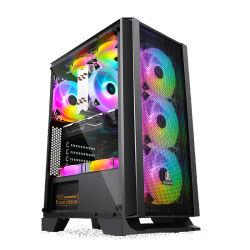 最大KeizerはDIYのパソコン網が付いているデスクトップガラスATXの賭博のコンピュータの箱を推薦する