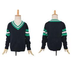 2016 de v-Hals van de Jonge geitjes van de school Sweater van de Koker van de Cardigan de Lange