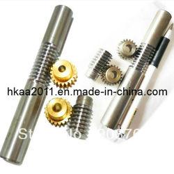 Precisión de acero inoxidable Personalizado/Motor paso a paso de latón del engranaje de gusano