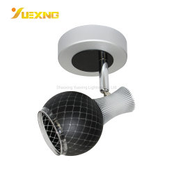Großhandelsumgebungs-modernes Fußboden-Schwarzes eingehangenes Eisen-Kreis PFEILER LED Kopfende-Wand-Punkt-Lampen-Licht