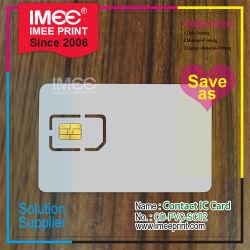 Van de Communicatie van pvc van de Druk van de Douane van Imee de Plastic Lege Slimme Kaart Telefoon SIM van de Cel Mobiele