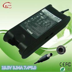 Laptop 19,5 V 3.34A 65W verdadeira Adaptador AC Carregador Notebook Fonte de Alimentação para a DELL