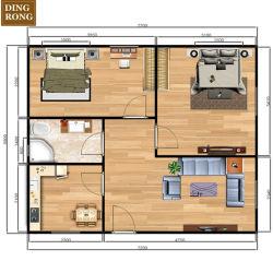 호화스러운 조립식 가옥 3 침실 콘테이너 전 날조된 홈 호화스러운 Portable