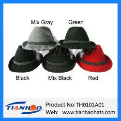 Costume Hat Tricorne Bavière randonnée du Tyrol feutre de laine noir Cabane de montagne