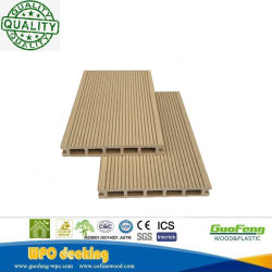 HDPE Houten Textuur Vuurvaste Groene Holle Houten Plastic Samengestelde Decking /Flooring