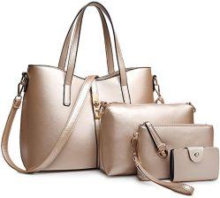 Lady Sacs à main 4PCS Sacs Set nouveau concepteur Fashion Lady sacs fourre-tout Wallet