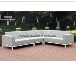 Im Freienrattan L Form-Ecken-Sofa-Möbel-Patio-Weidensofa-Sets