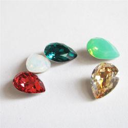 Wasser-Absinken-Form-Mehrfarbenpunkt-RückseiteK9 KristallRhinestones hängend