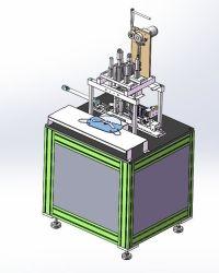 半自動平らで使い捨て可能なマスクの耳のループ超音波スポット溶接機械、機械Jc190を作るN95マスク