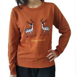 2017 moda señoras Plain Jersey jersey de punto jersey de Cashmere Sweater Mujer