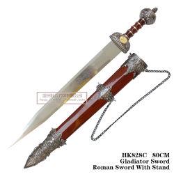 Spade romane antiche del cavaliere con la guaina 80cm HK828c