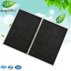 Aluminiumrahmen-Panel-Schwarz-Nylonnettofilter-Mikron-Nylonineinander greifen-Luftfilter