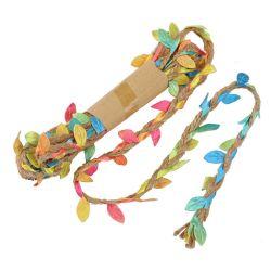 Hand-Woven ramo de flores las hojas de simulación de embalaje cuerda de cáñamo