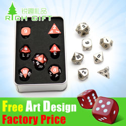 Factory Wholesale Customized Metal Polyhedral Casino Dice Adult / Bulk / Plastic / Laser Monled / D20 / 12 / 10/8 Sided / Giant / Sex / RPG / Loaded / Poker Game Dice Set