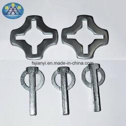 ステンレス製Uヘッドベース及びねじジャックの足場調節可能な鋼鉄