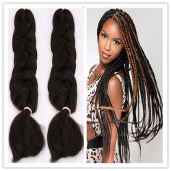 X-Pressão Jumbo Sintético Braids Granel pêlos sintéticos Crochê Braid de fibras sintéticas Hair Entrelaçando Crochê pêlos de extensão