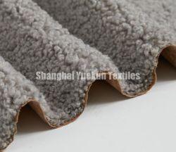 Pelle scamosciata sintetica legata del micro del tessuto della donna del rivestimento della pelle scamosciata della pelliccia di Sherpa