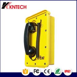 Resistente al agua SIP VoIP Teléfono Teléfono de Emergencia Punto de ayuda de ferrocarril de IP66.