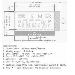 주문을 받아서 만들어진 단색 Tn Htn Stn FSTN VA 세그먼트 LCD 디스플레이