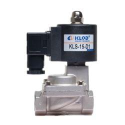 Methoden-Edelstahl-Hochtemperaturkolbenartiges Versuchsmagnetventil der neues Produkt Kls Serien-Kls-15-D1 2/2