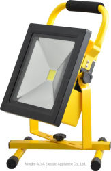 10W recarregável portátil LED sem fio da luz de trabalho o holofote IP65 de emergência à prova de luz de inundação com suporte