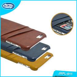 Krokodil-Haut-Leder-rückseitiger Deckel-Fall mit Kreditkarte-Halter für iPhone 6