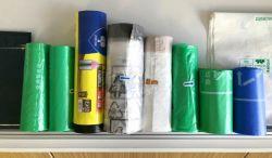 100% biodegradable y compostable bolsas de basura/ bolsas de basura/ Bolsas de cordón/ bin/ Bin camisas bolsas con cinta de Draw