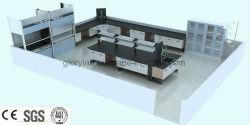 3D de bois et mobilier de laboratoire en acier