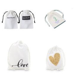 Cordón de la naturaleza de la Navidad Funda de algodón para la joyería/Cosmética zapatos/lienzo de muselina de promoción de la bolsa de embalaje Bolsa de cordón de regalo