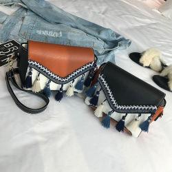 Бахромой квадратных мягкой поверхности квадратных пакет моды Lady Bag