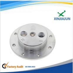 CNC 스테인리스 304 유압 플라스틱 관 결합 연결관 빠른 관 연결, 압축 공기를 넣은 벨브 이음쇠를 가진 돌 맷돌로 가는 플랜지 격판덮개