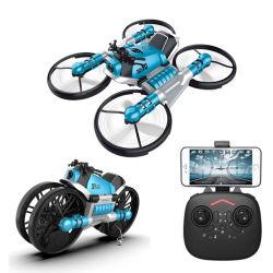 Amazônia combate 2.4G 2 em 1 Drone RC Electric RC Brinquedos de deformação Drone Motocicleta Controle WiFi carro modelo RTR