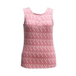Damas casual la impresión de la parte superior, camiseta sin mangas, la moda blusa de cuello redondo
