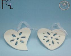 Handgemachte weiße keramische Inner-Form-hängender Hauptdekor