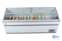 Супермаркет морозильный аппарат с верхней стеклянной в гибкой и удобные комбинированные конструкции