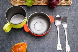 Ultralight здорового Drop доказательства посуда из титана чашу посуда продукты