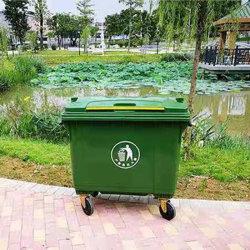 Vele Types van Mobiel Huisvuil het Plastiek van 660 Liter met Wielen en de Prijs van de Container van de Bak van het Afval van de Dekking
