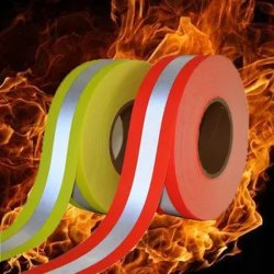 Refletividade com retardante de fogo pe Aviso de Segurança de fita de tecido macio
