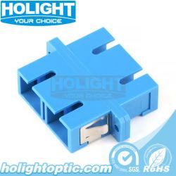 SC/PC-SC/PC Duplex de modo único adaptador com luva de zircónia