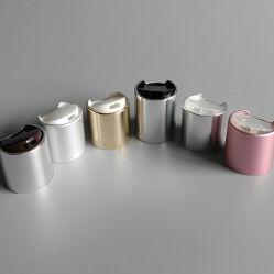24/410 y 24/415 de la tapa superior del disco de plástico de aluminio para botella