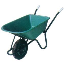 Ferramentas de jardim estilo Euro 85L PP Wheelbarrow Bandeja com borracha Pneumaticwheel