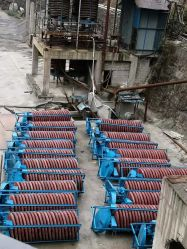 金鉱山プロセスのための熱いミネラルぬれたネジ・シュート