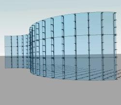習慣の外部の正面のガラスカーテン・ウォールのくもシステムカーテン・ウォール艶出しシステムか艶をかけられたアルミニウムカーテン・ウォール