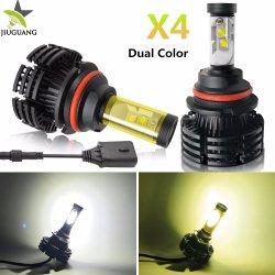 Двухцветный противотуманного фонаря X4 12000LM 60W КРИ Xhp Auto Car светодиодные лампы фар комплект для переоборудования