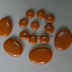 Большой размер желтый гладкий Flatback половины стеклянные бусины для украшения