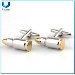 Nickel bicolore di alta qualità + gemelli in rame dorato, gemelli con logo Bullet 3D personalizzato con pin in set per regali promozionali natalizi