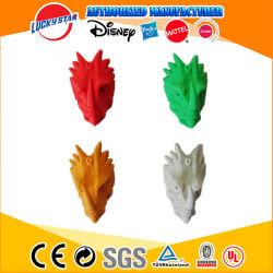 De fábrica Barata de China TPR Lápiz dinosaurio Topper Eraser