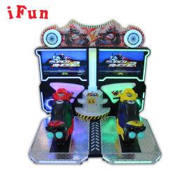 Ifun公園はMotoをMotoのシミュレーターのアーケードのビデオ硬貨によって作動させるゲーム・マシンの遊園地装置のビデオゲームのオートバイのシミュレーターのゲームのゾーンを競争させている2人のプレーヤー結び付ける