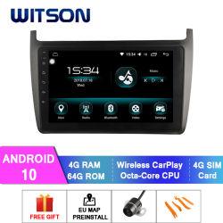 Android Market 10 Sistema de áudio do carro para 2012-2015 VW Polo 4 GB de RAM 64GB Flash grande ecrã no aluguer de DVD